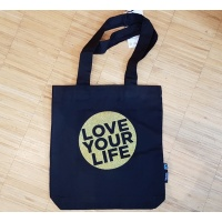 Love Your Life Tasche Black Glitzergold